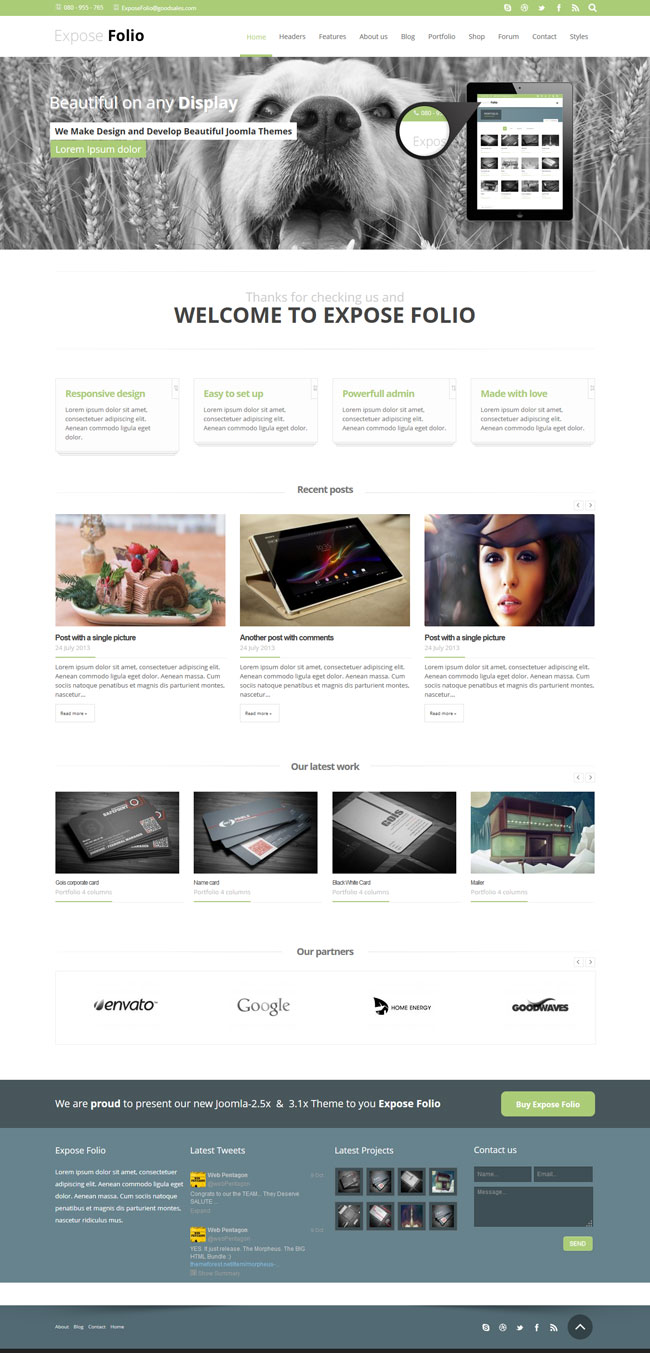 Exposefolio Multipurpose Joomla Template
