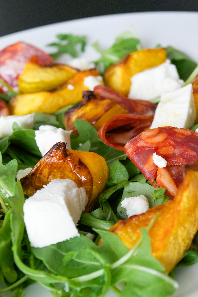 pumpkin chorizo and goats cheese salad 2