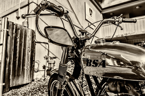 BSA Motorcyle (black and white) by joeeisner