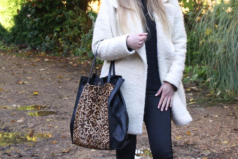 Zara leopard tote