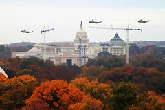 Marine One Capitol fly-by
