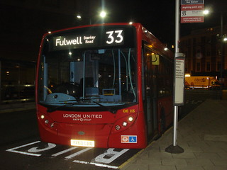 London United DE115 on Route 33, Hammersmith