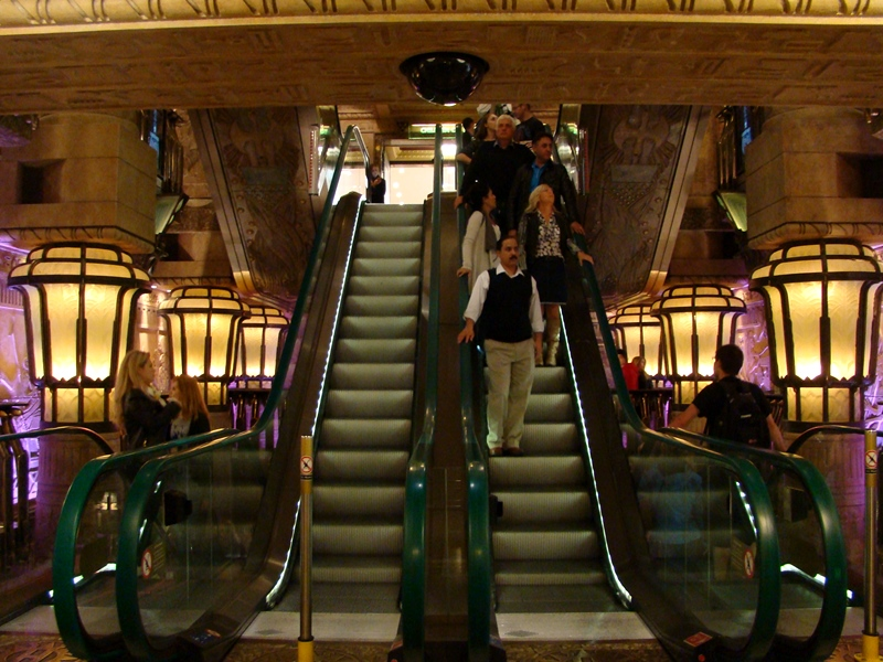 Harrods egyptian elevators