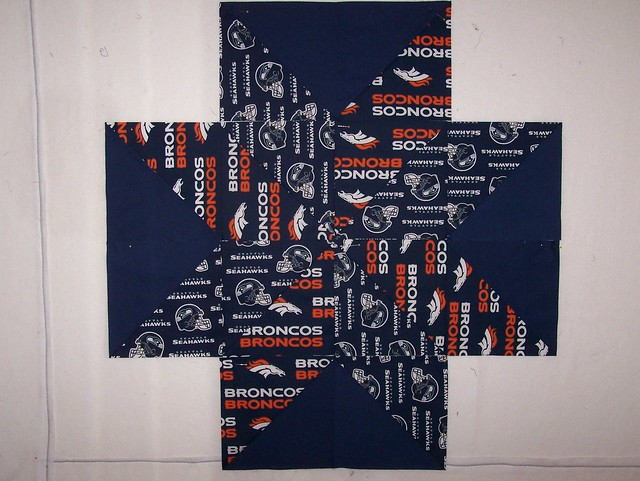 Seahawks Broncos Star Surround Quilt