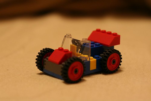 Racing car of Lego