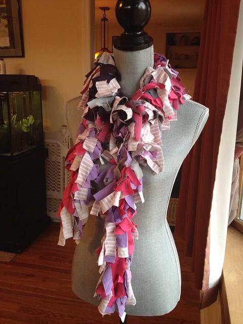 purple and pink rag boa