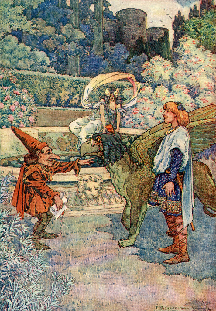 "Frederick Richardson -  Illustration From ""The Queen's Museum and Other Fanciful Tales"" by Frank R. Stockton, 1906 (3)"