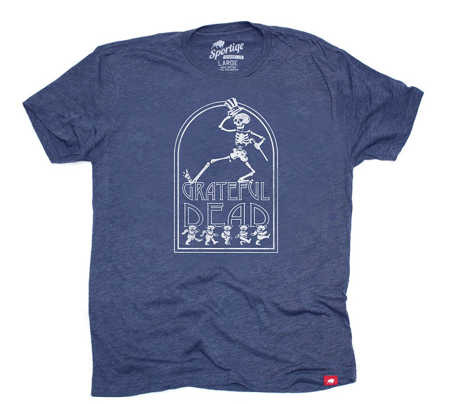 Sportiqe Grateful Dead Comfy Stone T-Shirt - Navy