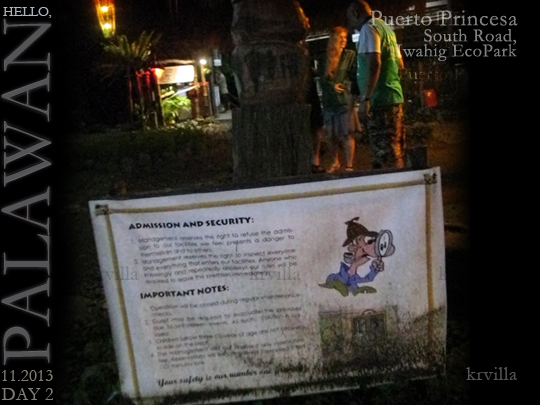 Iwahig Firefly-Watching Ecopark Notice to Visitors