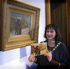 "[Pictured: Provost Helen Moonie with her official 2013 Christmas card and the painting ""Two Children in the Snow"" that inspired it (see note at end of message for details.]  It seems hardly any time at all since we all enjoyed the wonderful warm summer in South Ayrshire.  Now, as the year end approa..."