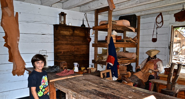 Hide and Leather Maker at colonial quarter st augustine florida