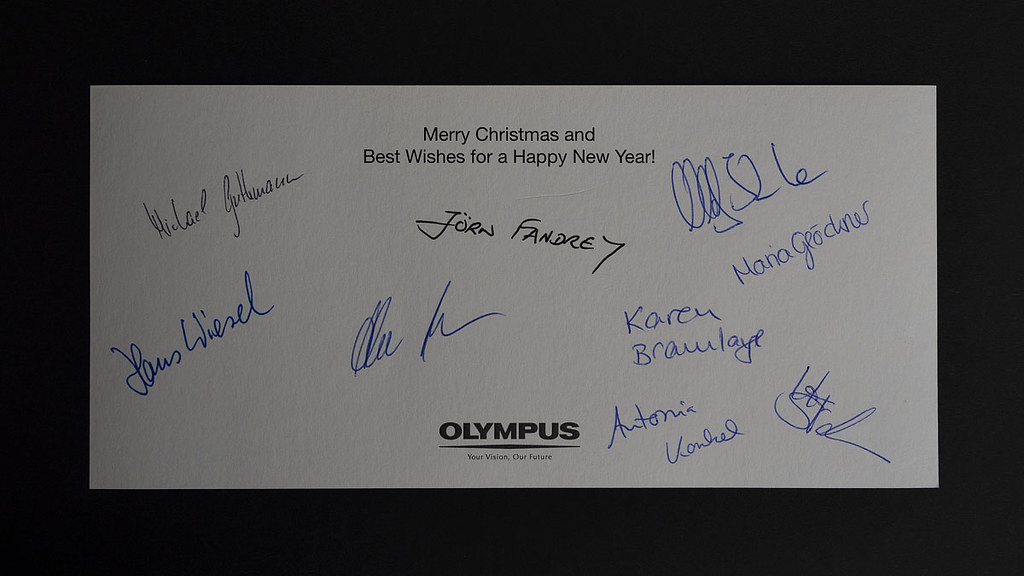 Card from Olympus Europe