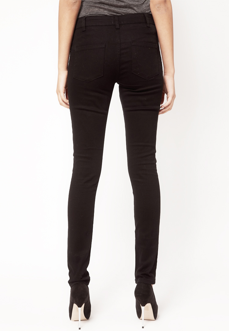 ASOS PETITE Skinny Trousers In Cotton Twill