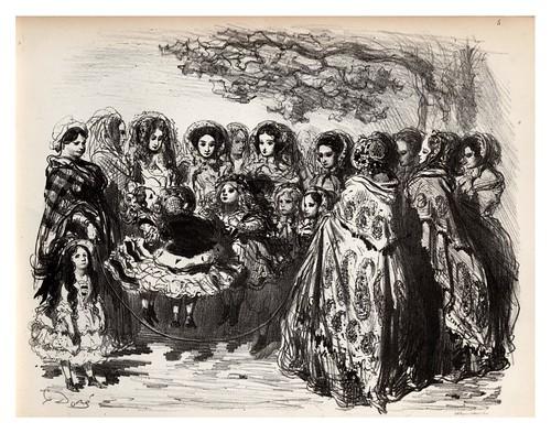 005-Leonas de sus pequeños-La Ménagerie parisienne, par Gustave Doré -1854- Fuente gallica.bnf.fr-BNF
