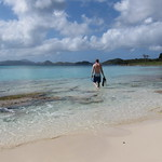 Snorkel time on Scott Beach