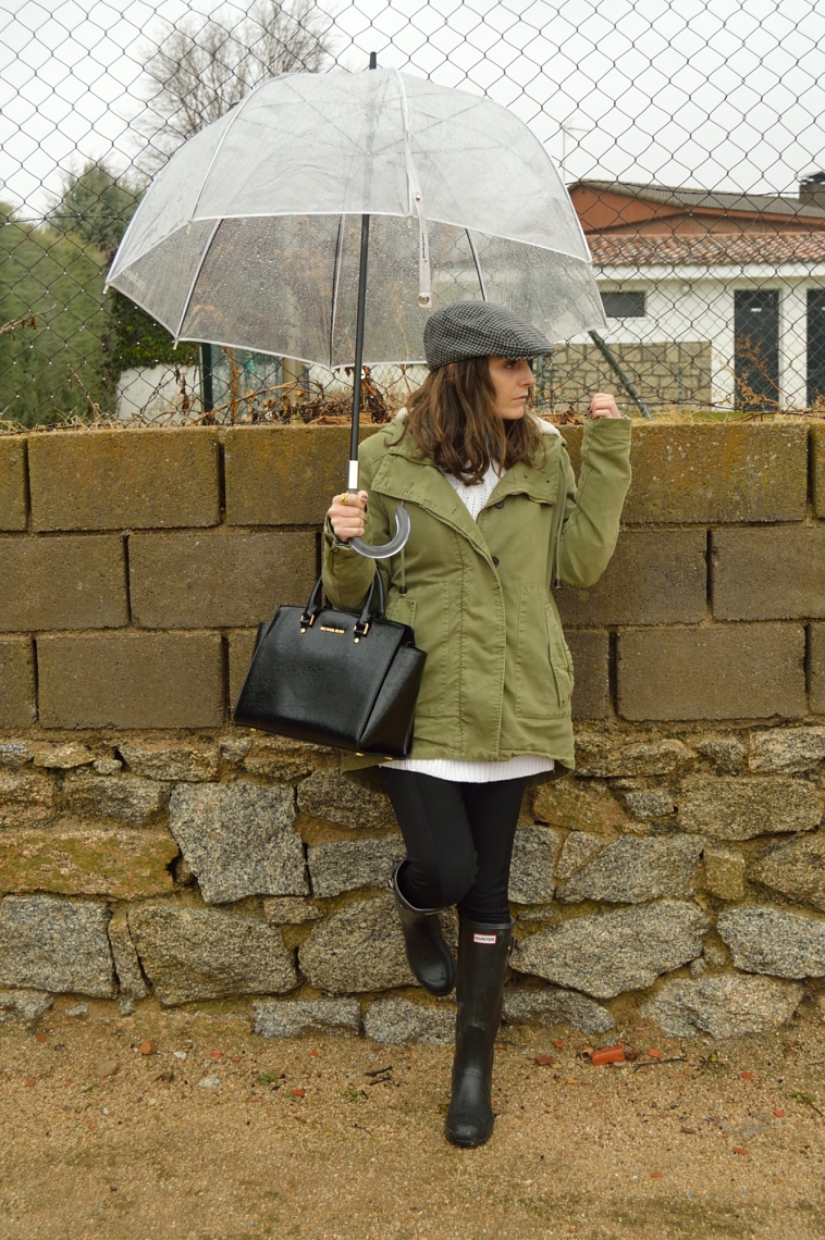 lara-vazquez-madlula-country-look-green-parka-weellies-hunter