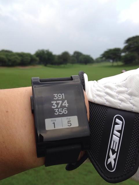 Enjoyed golf with Pebble.