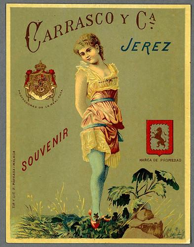 001-Etiquetas de bebidas. Figuras y retratos de mujeres-1890-1920- Biblioteca Digital Hispánica