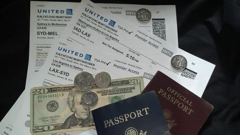 money tickets passports
