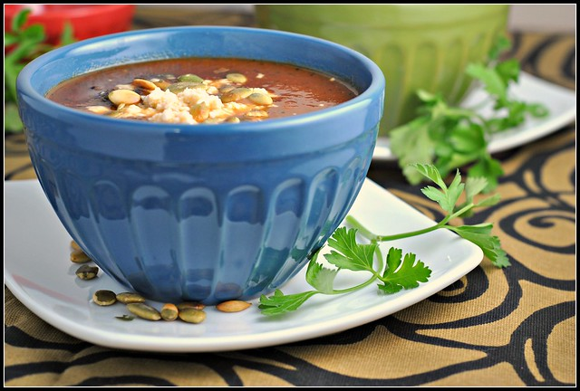Black Bean Soup with Roasted Poblano Chiles 3