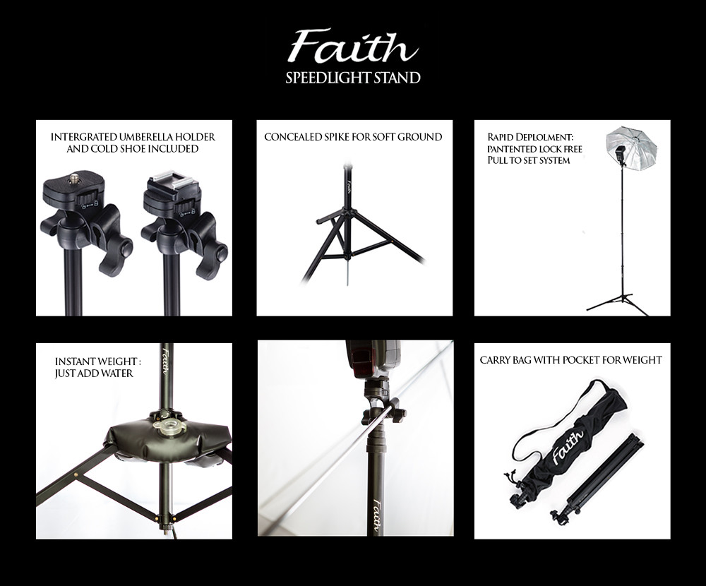 Faith, An Amazing Lightweight Speedlight Stand From The Maker Of Lollipod