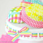 Pretty bright cupcake cases