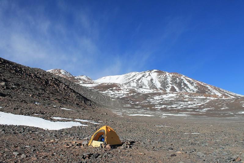 High camp on Bonete