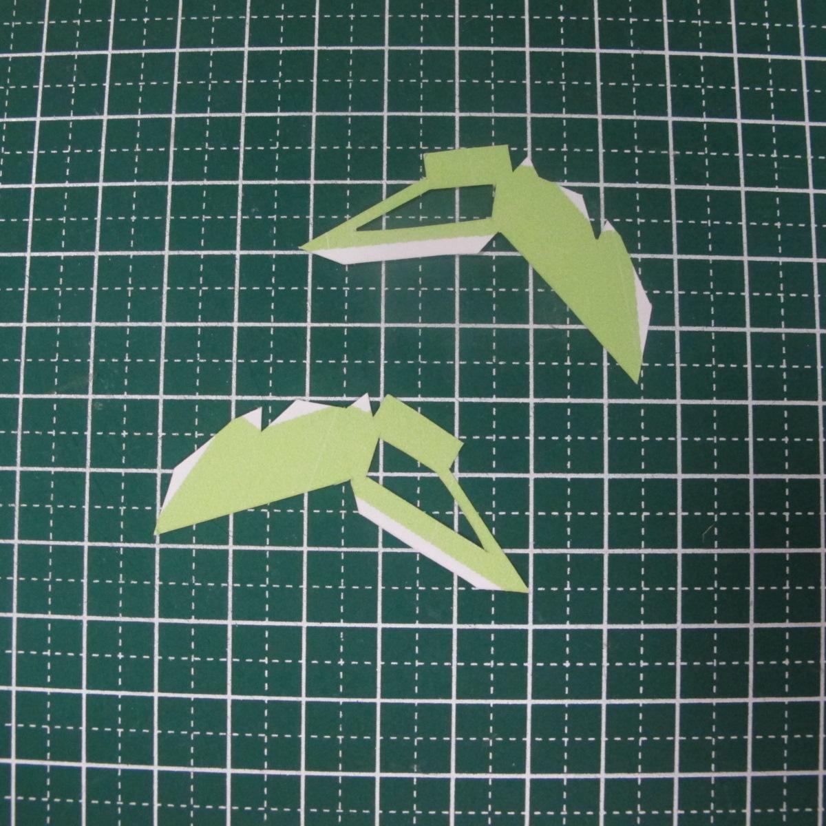วิธีทำของเล่นโมเดลกระดาษรูปนก (Bird Paper craft ) 001
