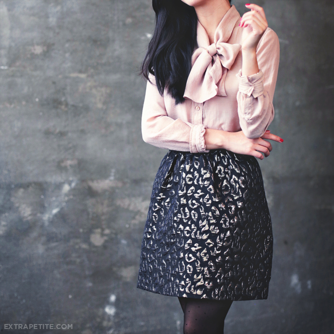 bow top leopard skirt3
