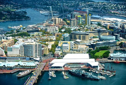 Darling Harbour and the ANZAC Bridge
