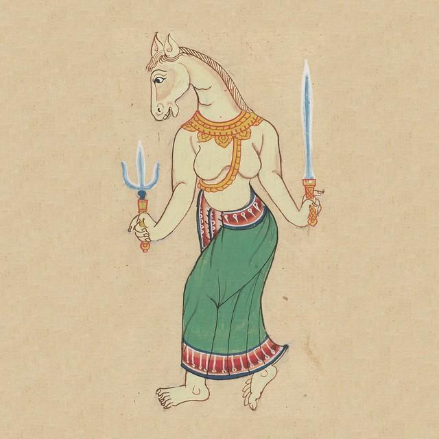 Horse - zodiac manuscript figure