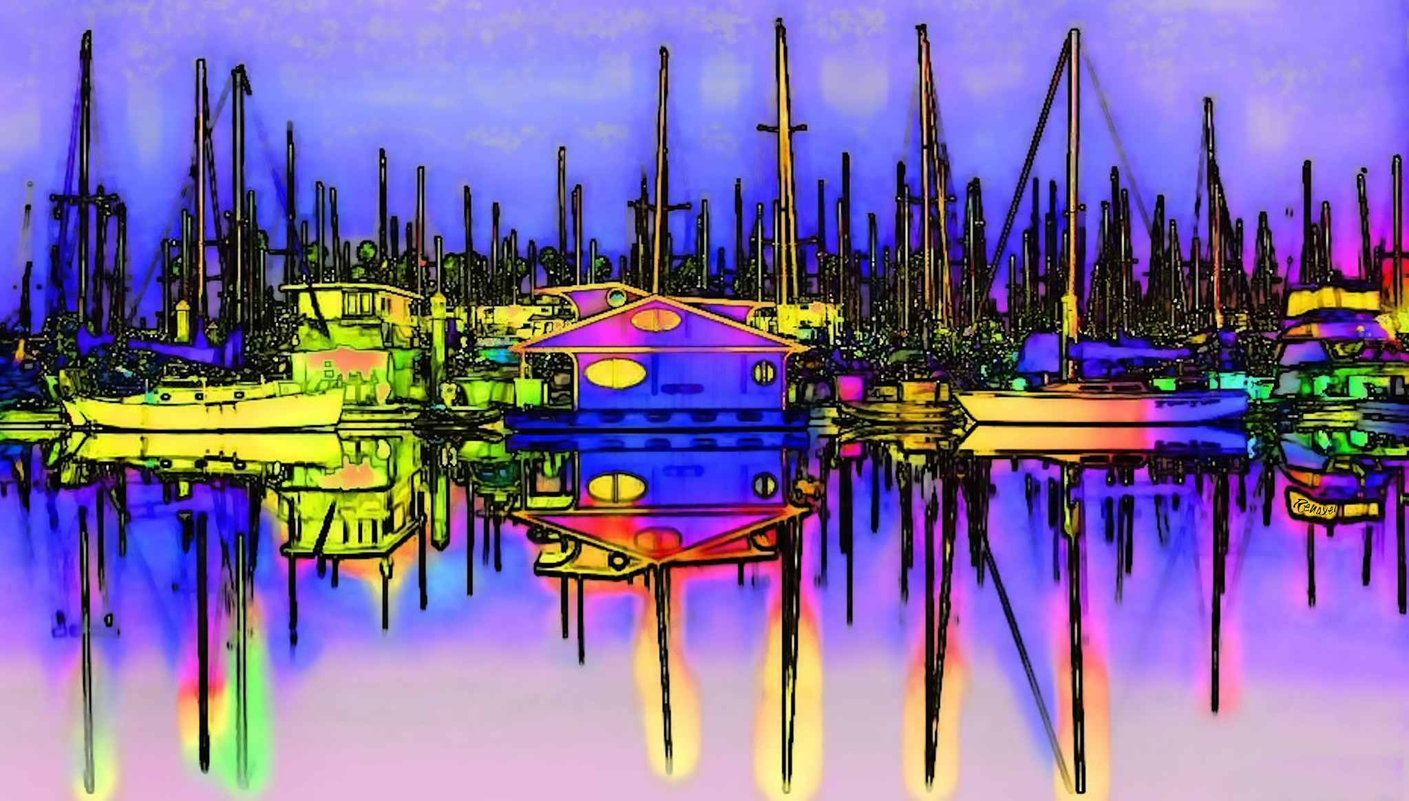 Harbor Glow Flickr