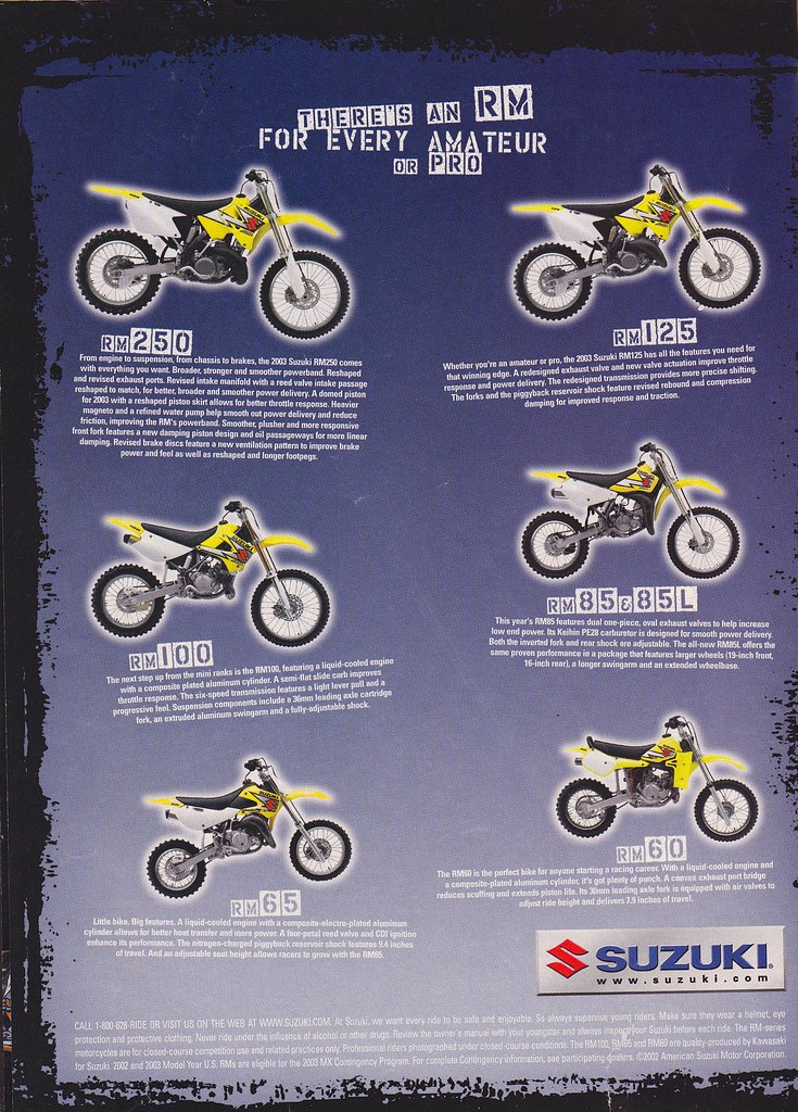 Swell All Sizes 2003 Suzuki Rm Ad Flickr Photo Sharing Pdpeps Interior Chair Design Pdpepsorg