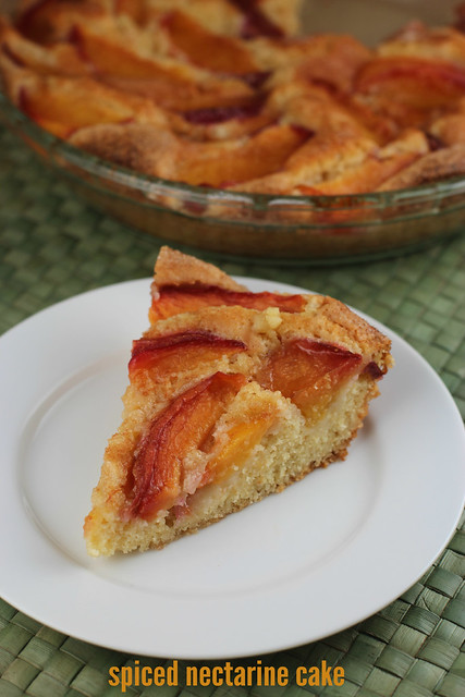 Spiced Nectarine Cake from Bon Appetit