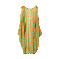 Orange Dog Tooth Sleeveless Kaftan