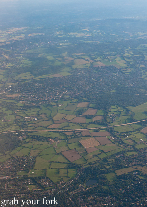 Outskirts of London from the air