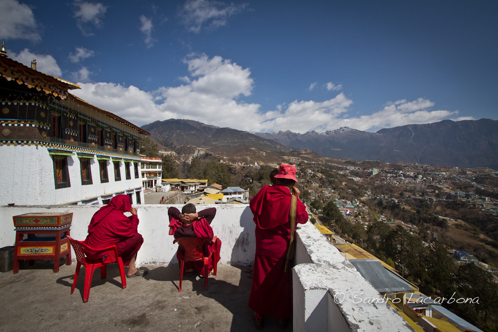 Monks at the Tawang monastery