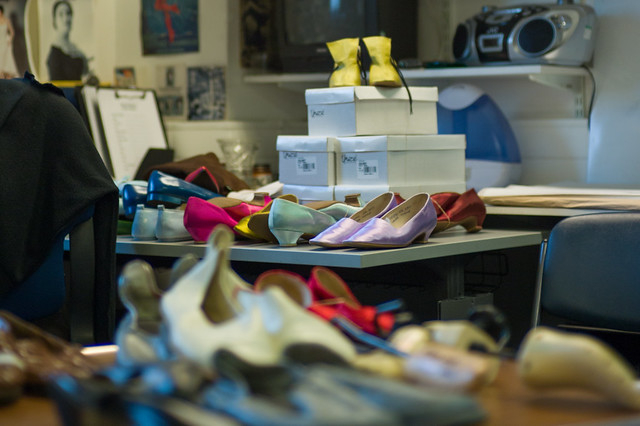 Inside The Royal Opera shoe room © ROH 2014