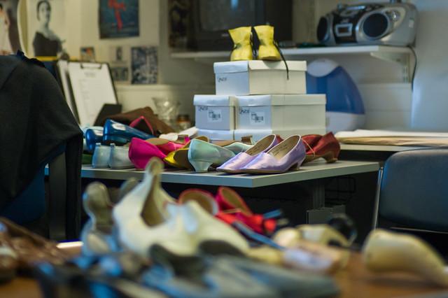 Inside The Royal Opera shoe room © ROH 2014