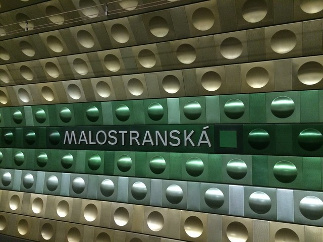 Malostranska Station - Prague Subway