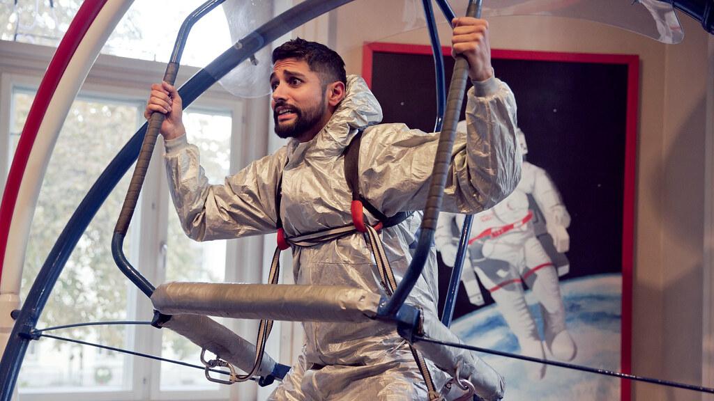 Chirag på astronauttrening - P3aksjonen 2016