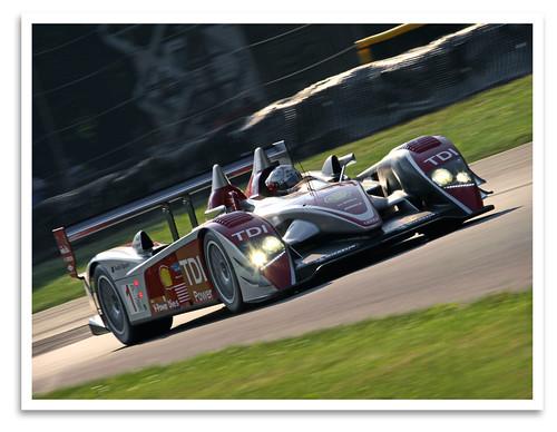 car racecar sportscar spyder audi audisport r10 tdi alms midohiosportscarcourse lexington oh 2008
