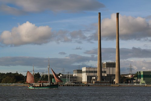 16th September 2016. Brian Boru gaff rigged ketch at Great Island Power Station on the River Suir at Cheekpoint, Waterford, Ireland