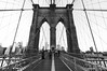 Brooklyn Bridge Black and White, Manhattan, New York City, USA