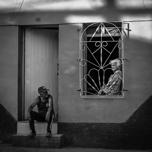 2016 cuba aprile cu insieme bianco nero street monocromo