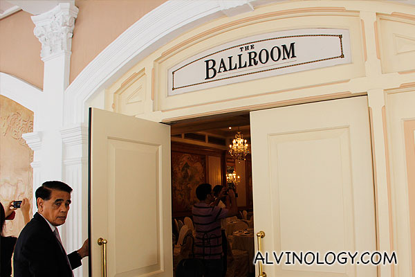 Entering the ballroom where many wedding ceremonies are held