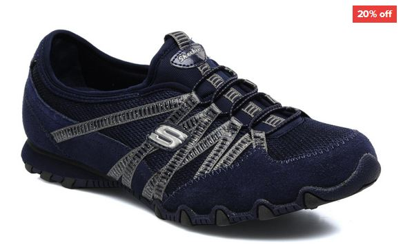 Skechers navy trainers