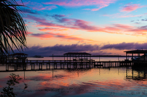 blue sunset sky water colors clouds sunrise canon river landscape pier