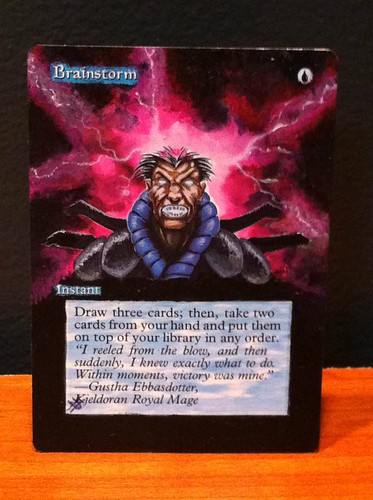 altered art Brainstorm Altered Art Magic Card by Jacob Honor