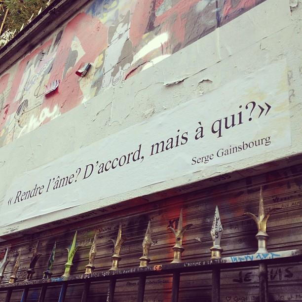 """Rendre l'âme ? D'accord, mais à qui ?"" #gainsbourg #sergegainsbourg"